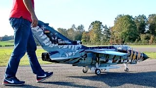 ECR TORNADO NATO TIGER LUFTWAFFE BIG RC SCALE MODEL TURBINE JET FLIGHT / RC Airshow Hausen 2015