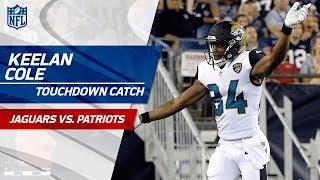 Keelan Cole Hauls in 97-Yard TD Catch! | Jaguars vs. Patriots (Preseason) | NFL