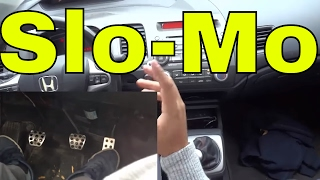 Rev Match Downshifting In Slow Motion-Driving Manual