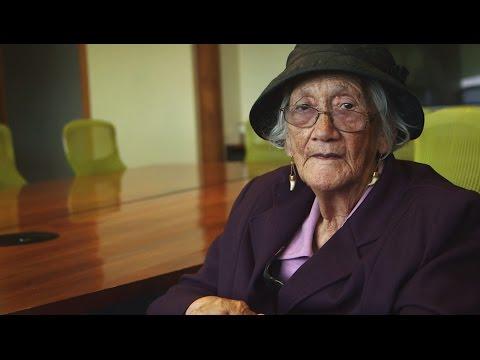 Waka Huia 2015 Pēpē Kohineoha MacDougall, the eldest living female in the Ruatoki valley