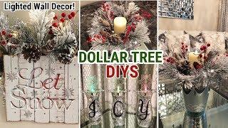 Dollar Tree Christmas DIY   Winter Glam Decor