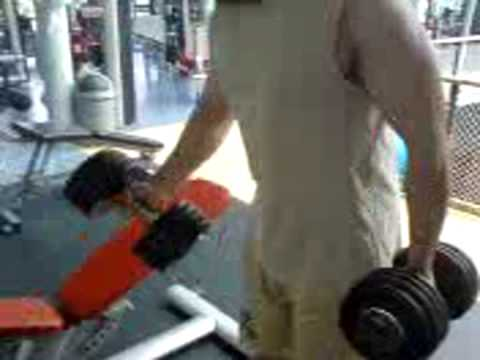bicep curl 30kg (66lbs) ! per arm Video