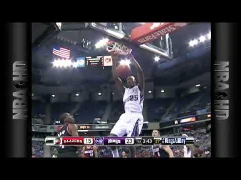 Travis Finishes with DANGEROUS SLAM |  Portland Trail Blazers Vs Sacramento Kings | 10/15/2012 | NBA