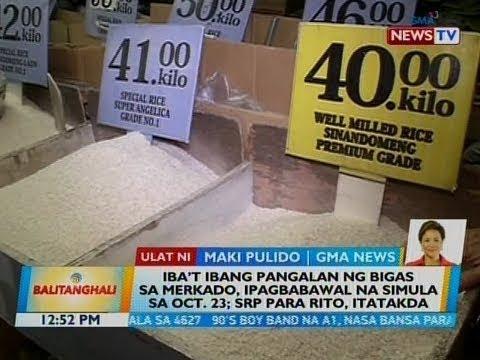 Iba't ibang pangalan ng bigas sa merkado, ipagbabawal na simula sa Oct. 23; SRP para rito itatakda thumbnail