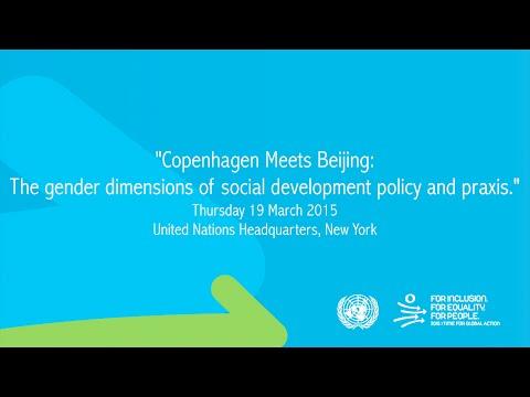 Copenhagen Meets Beijing: The gender dimensions of social development.