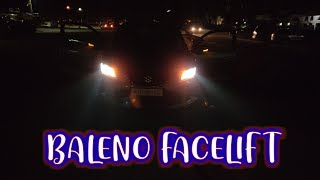BALENO FACELIFT PROJECTOR HEADLIGHTS ON ROAD REVIEW   DELTA VARIANT   PB VLOGS