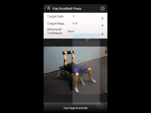 Gym Guru demo - the premier workout generator and fitness app for Android