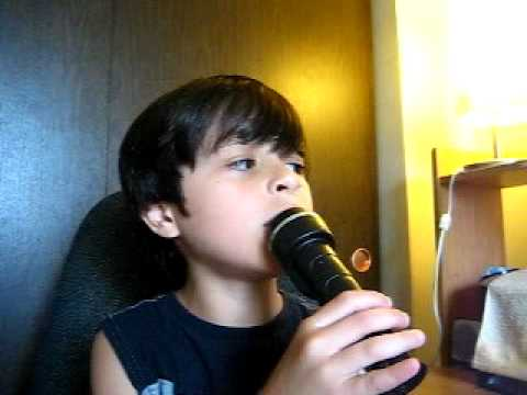 8yr Old Justin Singing hero From The Movie Starstruck video