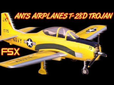 ANTS AIRPLANES T-28D TROJAN FSX HD