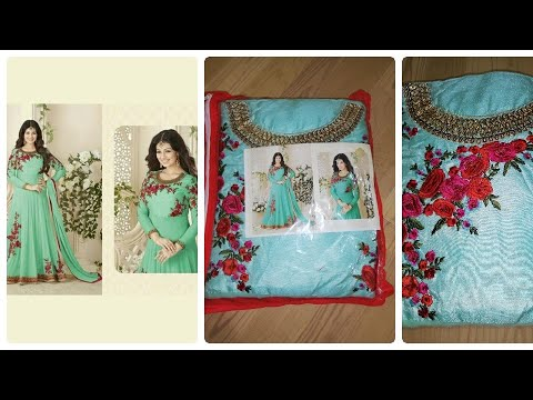 anarkali dress unboxing|designer anarkali gowns|latest anarkali gowns|online shopping review
