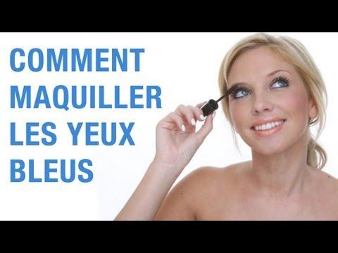 comment maquiller des yeux bleus youtube