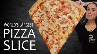 WORLD'S LARGEST PIZZA SLICE