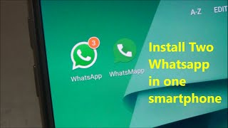 Install Two Whatsapp In One Smartphone !