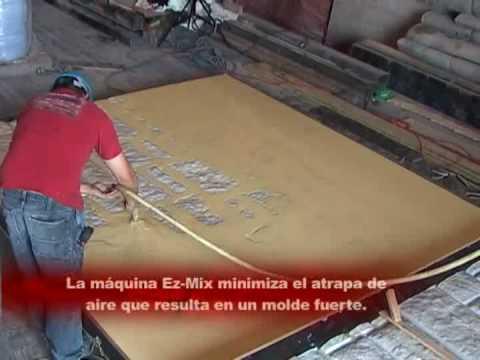Como hacer molde de tapete con vytaflex youtube - Como se echa un piso de cemento ...