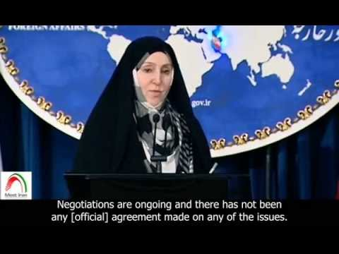 [English sub]. Iran's Foreign Ministry spokeswoman, Marzieh Afkham, on nuclear talks.