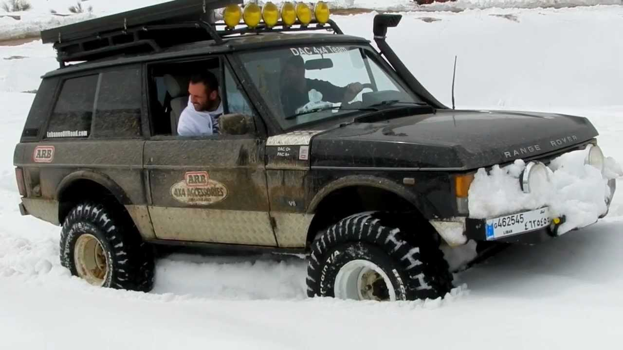 Range Rover Lifted >> Range Rover with ARB diff lock on snow - YouTube