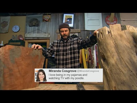 Nick Offerman Reads Tweets From Young Female Celebrities Vol. 6 - CONAN on TBS