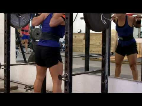 Girl Doing Heavy Squats (Raw) @132 Image 1
