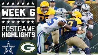 Cowboys vs. Packers | NFL Week 6 Game Highlights