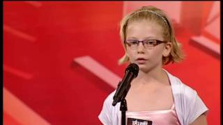 Talent Denmark Danmark 2010 Sofie 10 years 10 år audition hallelujah.avi