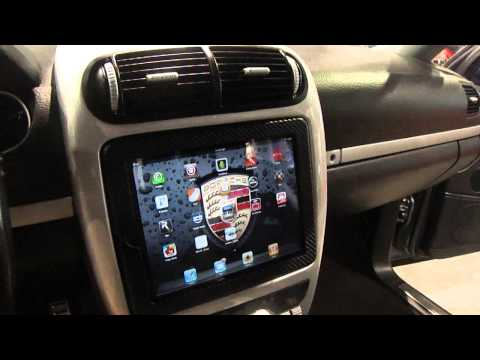 Best iPad 2 install into car, motorized. SBN 2011 Porsche Cayenne S by Underground auto styling