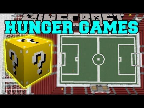 Minecraft: Football Stadium Hunger Games - Lucky Block Mod - Modded Mini-game video