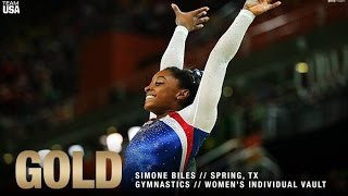 Simone Biles Wins Gold In Women's Vault at Rio Olympics 2016