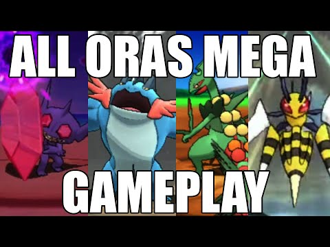Pokemon Omega Ruby And Alpha Sapphire: All Oras Mega Evolution Gameplay! video