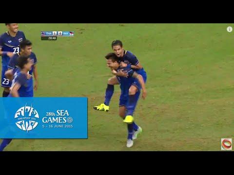 Football Mens Semi-Final 2 Thailand vs Indonesia 1st Half Highlights | 28th SEA Games Singapore 2015