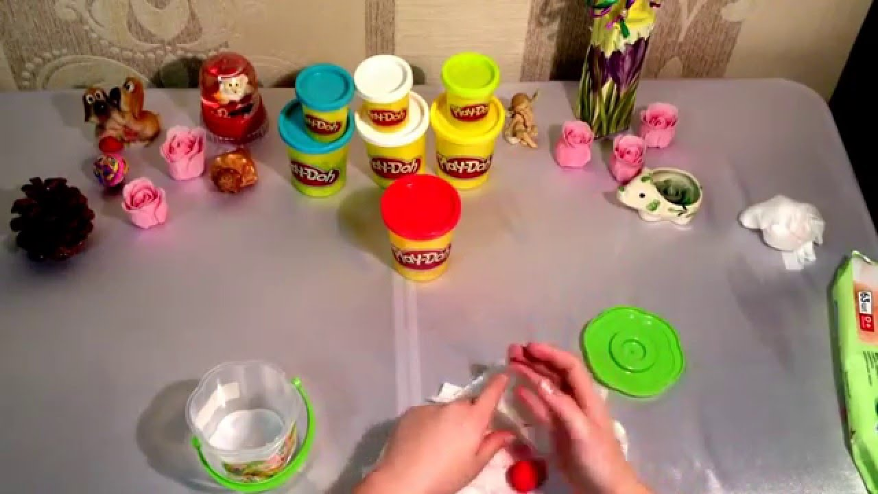Как сделать пластилин который засыхает