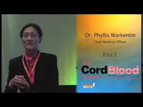 Phyllis Warkentin of FACT on recognition in cord blood banking - at World Cord Blood Congress 2012