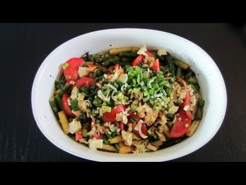 Healthy Cooking Made Easy! Asparagus Salad + Turkey (Weightloss)