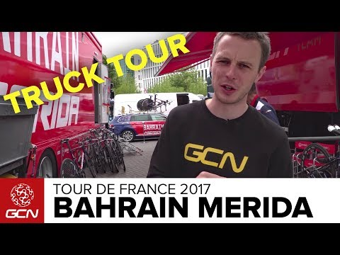 Bahrain Merida Cycling Team Mechanics' Truck Tour - Tour de France 2017