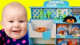 Funny Baby Pretend Play with Pet Grooming Toy