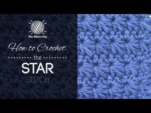 Crochet Stitches In Youtube : How to Crochet the Star Stitch - YouTube