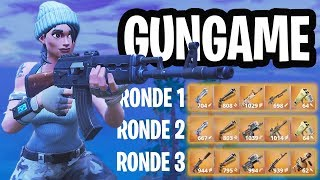 LEGENDARY GUNGAME 1v1v1v1 MINI-GAME!  - Fortnite: Battle Royale Playground (Nederlands)
