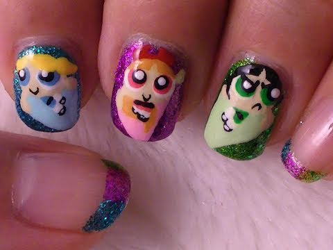 Powerpuff Girls Nail Art video