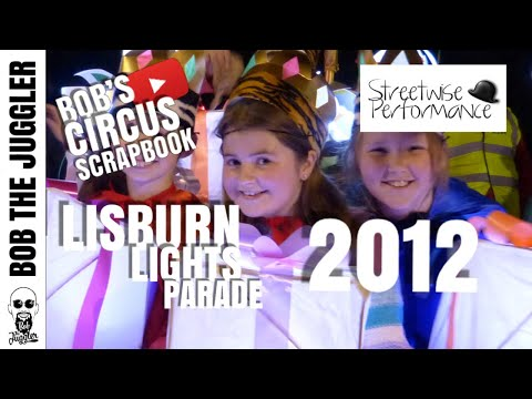Highlights of Lisburn Lights Parade 2012. For further details please contact streetwise on 02890687828.