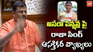 Raja Singh About Aasara Pension Scheme | BJP | Telangana Assembly 2019 | CM KCR | KTR