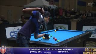 2017 US Bar Table Championships 9-Ball: James Aranas vs Shane Van Boening