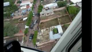 Helicóptero Halcón en enfrentamiento Agua Azul y Apaseo -Balacera 20 min.-