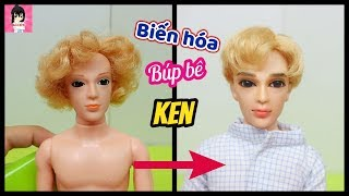 Biến hóa búp bê KEN- LÀM TÓC + VẼ MẶT / Ken Doll REPAINT / Ami DIY