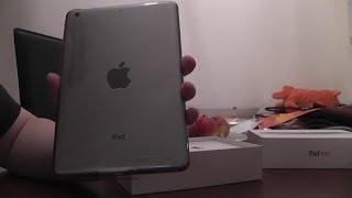 iPad Mini Retina 128GB space grey WiFi model unboxing