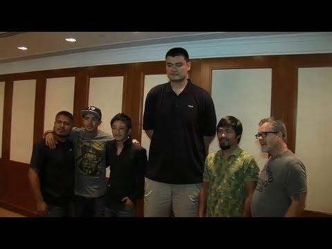 Pacquiao & Rios meets Yao Ming