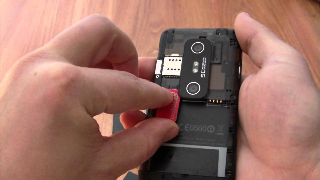htc how to put sim card in