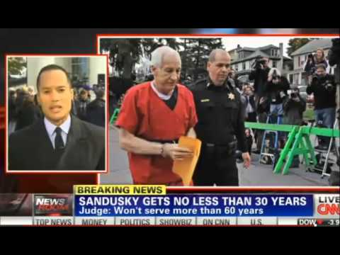 Jerry Sandusky Sentenced to 30 - 60 years in prison as Child Molester