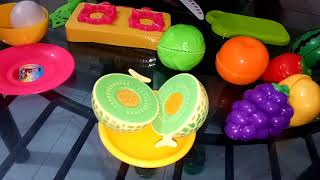 Pretend Play Food Toys Cooking,Kitchen Playtime velcro cutting fruits and vegetable