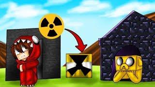 RETO DE LA BASE DE OBSIDIANA VS BASE DE BEDROCK 😱☢️ ¿RESISTIRÁN LA BOMBA NUCLEAR?