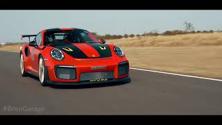 Porsche GT2RS on the racetrack in INDIA