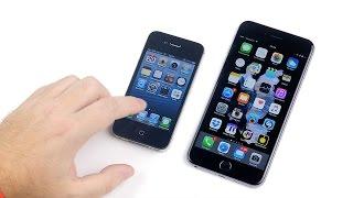iPhone 4S iOS 6.1.3 vs iPhone 6S Plus iOS 9.1 - Epic Battle!